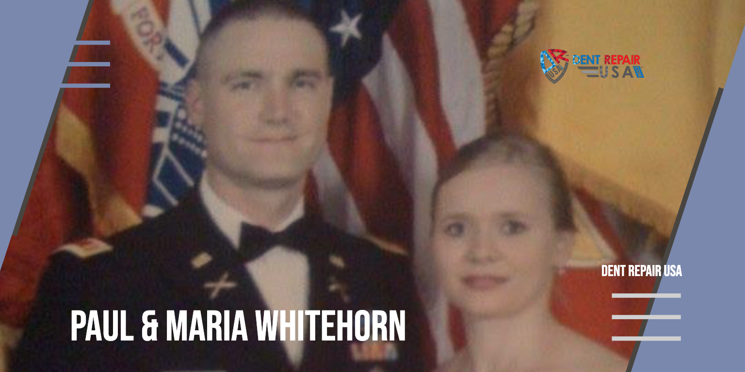 Husband Wife Army Officer Uniform Paul and Maria Whitehorn